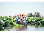 群馬県館林市のつつじが丘公園で、城沼花ハス遊覧船が8月15日まで運航中【東北自動車道 館林ICより車で約4km】